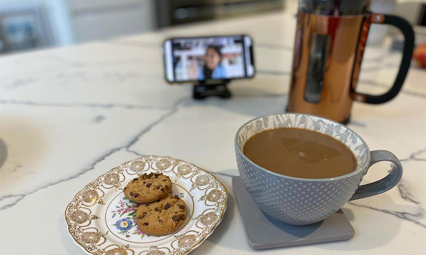 virtual coffee morning Homepage grid listing